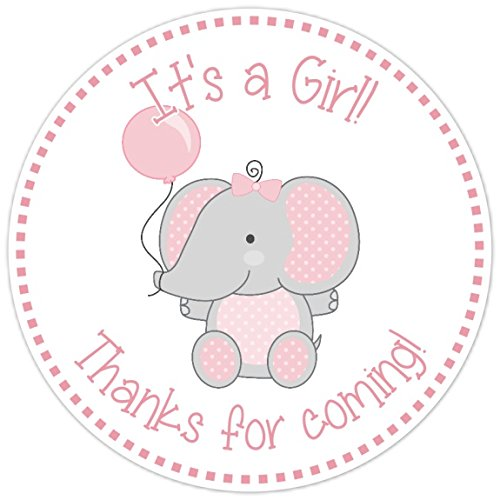 Amazon Pink And Gray Elephant Stickers Baby Shower Favor