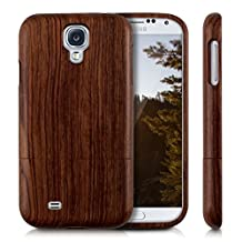 kwmobile Natural wood case for the Samsung Galaxy S4 in rosewood brown