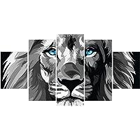 Quadros Decorativos Sala Leão De Judá CINZA - Olho Azul