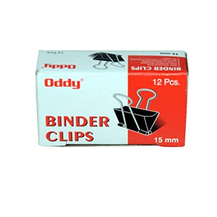 Oddy Binder Clip 15mm,12Clips/pack  Pack of 144 pcs