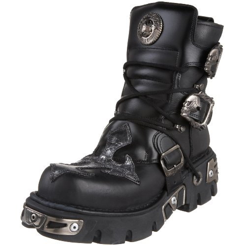 New Rock M.407-S1-43 Booty - Black vQ7NC8A