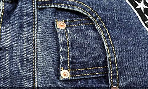 Pantaloni Skinny Senza Jeans Huixin Uomo Dritti A Media Slim Elastici Strappati Vita Blu Cintura fwwYrPnWzx