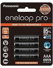 Panasonic Eneloop Pro Rechargeable Batteries, AAA, 4 Count
