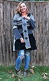 Black N Gray Geometric Fun Felted (Aline) Cardigan Coat