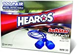 """HEAROS Metal Detectable SoftStar EZ Twist Series """"Hybrid"""" Foam Ear Plugs"""