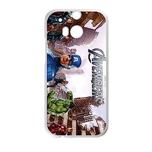 Avengers Movie funda HTC One M8 caja funda del teléfono celular del teléfono celular blanco cubierta de la caja funda EVAXLKNBC20936