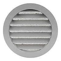 200mm Lüftungsgitter - Abluftgitter - rund - mit Flansch/Rohranschluß und Insektenschutz, Aluminium, MRA200