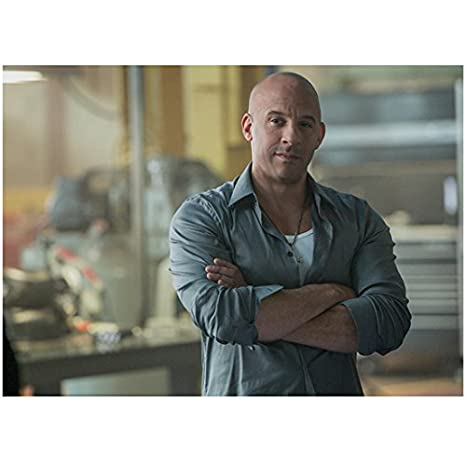 Furious 7 8x10 Photo Vin Diesel Grey Shirt Arms Crossed kn at Amazon s  Entertainment Collectibles Store 01525df9f0