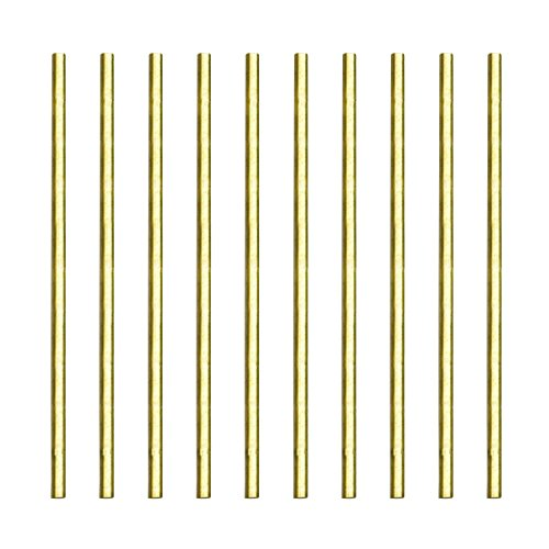 Sutemribor Brass Solid Round Rod Lathe Bar Stock, 3mm in Diameter 100mm in Length (10Pcs)