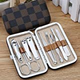 10pcs Nail Care Clipper Scissor Tweezer Pedicure Manicure Set Kit with Lether Case Travel by Toyforyoustore