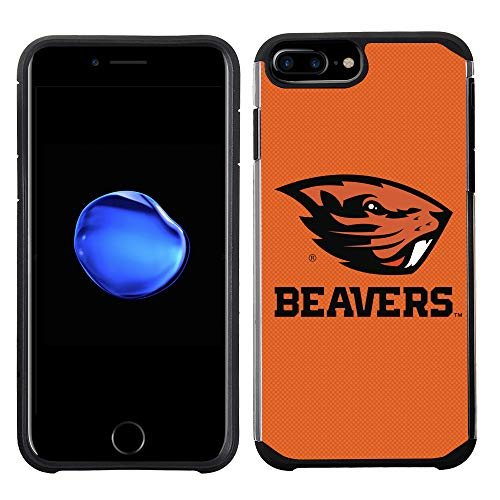 - Prime Brands Group Textured Team Color Cell Phone Case for Apple iPhone 8 Plus/7 Plus/6S Plus/6 Plus - NCAA Licensed Oregon State University Beavers