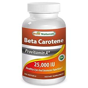 Best Naturals Beta Catotene 25,000 IU 180 softgels