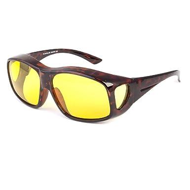 9596e9cfc9c Amazon.com  Tortoise HD Night Driving Sun Sunglasses Polarized Fit ...