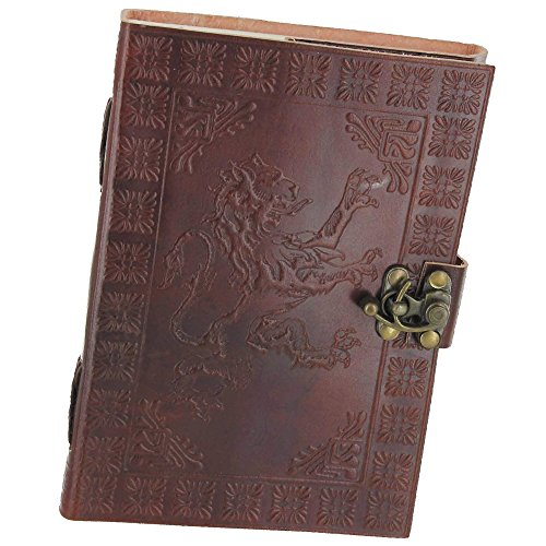 Handmade Leather Journal Rampant Lion by Armory Replicas