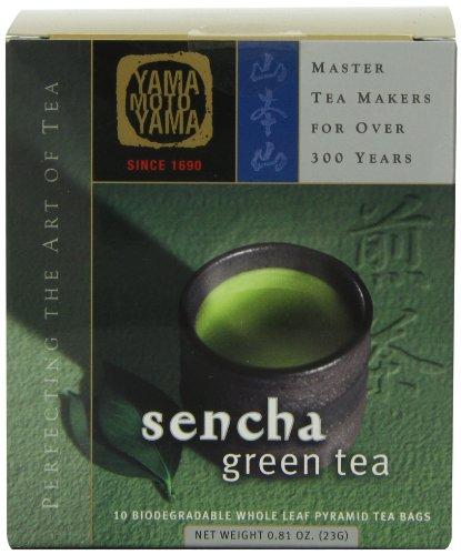 Yamamotoyama Sencha Green Tea Pyramid Bag, 0.81-Ounce Box ()