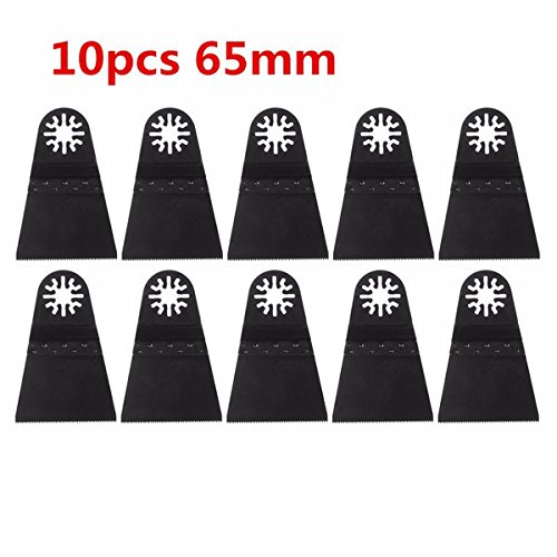 Pukido 10pcs 65mm High Carbon Steel Saw Blade for Multifunction Finishing Machine