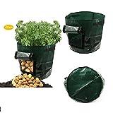 Lxstore Garden Potato Grow Bag Vegetables Planter Bag 7 Gallon Vegetables Grow Bags 2-pack