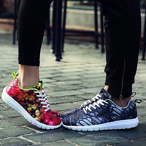 En Sommar Unisex Multi Löparskor Plattform Sneakers Grå