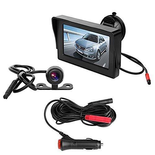 OBEST Kit 4.3 Pouces TFT-LCD Moniteur et Camé ra de Recul Voitures Sauvegarde Vision Nocturne 120 Angle