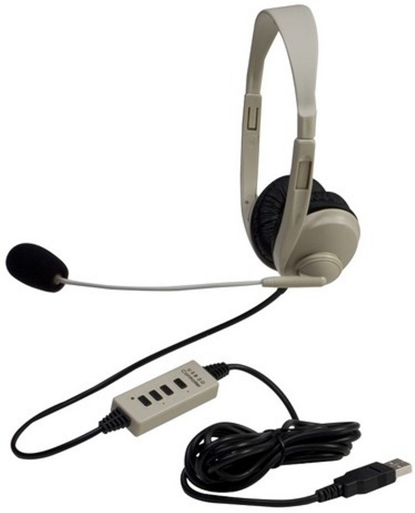 Califone 3064-USB Multimedia Stereo Headset, Fully adjustable and lightweight headband fits all students, High speed connectivity with backwards-compatible USB 2.0 plug eliminates the need for a sound