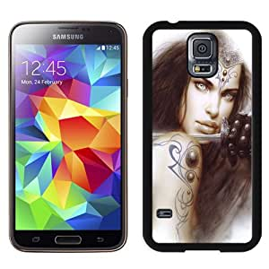 Fashionable Custom Designed Cover Case Samsung Galaxy S5 I9600 G900a G900v G900p G900t G900w With Anime Sword Girl Phone Case Cover