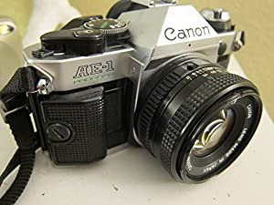 Vintage Canon AE-1 Program 35mm SLR Camera with 50mm 1:1.8 Lens by Canon