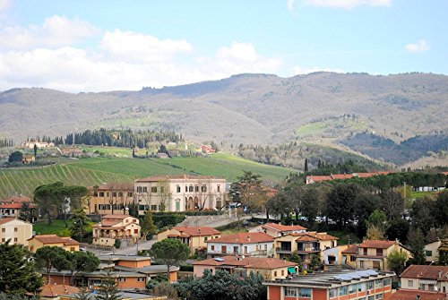Home Comforts Framed Art for Your Wall Chianti Italy Castellina in Chianti Place Tuscany 10x13 ()