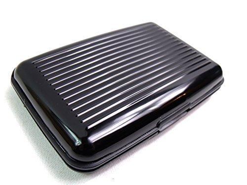 Cartera Tarjeta Crédito Aluminio Soporte RFID Bloque 6 Colores Negro: Amazon.es: Zapatos y complementos