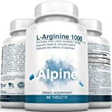 Alpine-Nutrition-L-Arginine-1000mg-Tablets-NOS-Nitric-Oxide-Capsules-60-Veggie-Tablets