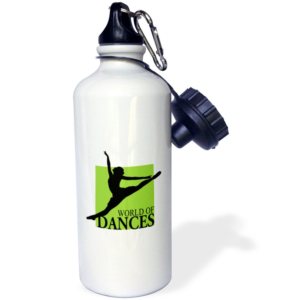 素晴らしい ローズWB_ 219671_ 1世界のDances with ローズWB Grand_ Jete Ballerina with inブラックandグリーンスポーツウォーターボトル、21オンス、ホワイト B017DF2GCY, sanada:e93cc0ea --- digitalmantraacademy.com