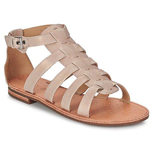 Donna Geox sandalo jolanda tacco bassod5275d vitello perlato