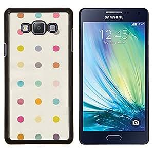YiPhone /// Prima de resorte delgada de la cubierta del caso de Shell Armor - Modelo de punto en colores pastel Clean Band Aid - Samsung Galaxy A7 A7000