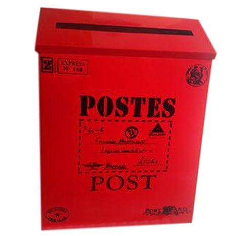 Carta Buzón de correos montado en la pared impermeable buzón con cerradura caja (palabra,