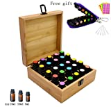 Best Healing Solutions Fragrance Oils - Aromatherapy Essential Oil Wooden Bamboo Storage Box Holds Review