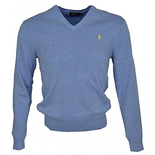 Cotton V-Neck Sweatshirt - 4