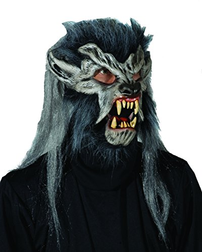 Zagone Night Crawler Mask, Werewolf Grey, Wolfman Monster -