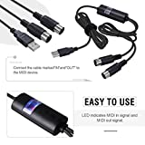USB IN-OUT MIDI Cable, VSEER Pofessional Piano