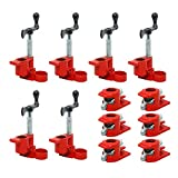 """(6 Pack) 3/4"""" Wood Gluing Pipe Clamp Set Heavy Duty PRO Woodworking Cast Iron Wood Pipe Clamp for Woodworking"""