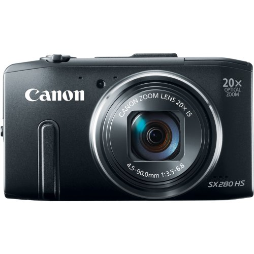 Canon PowerShot SX280 12.1MP Digital Camera with 20x Optical Image Stabilized Zoom with 3-Inch LCD (Black) (OLD MODEL) (12.1 Mp Digital Camera)