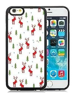 2014 Latest iPhone 6 Case,Santa Claus Black iPhone 6 4.7 Inch TPU Case 7