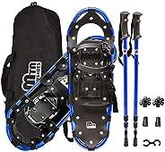 Snowshoes, Aluminum Snow Shoes for Men and Women with Snowshoes Poles, Outbound Snowshoes with Carrying Bag an