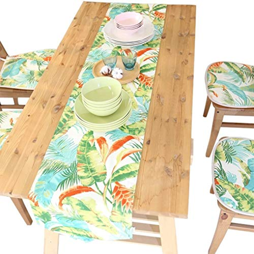 US-ROGEWIN Table Runners Modern Classical Simple Green Leaf Plants Placenmats for Wedding Party Christmas Home Decoration]()