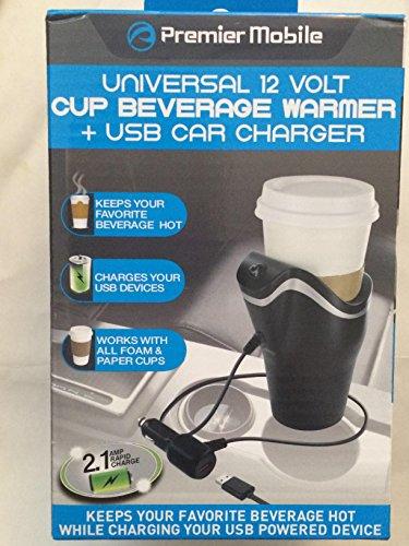 Universal 12 Volt Usb Car Charger Cup Beverage Warmer Premier Mobile 2016 (Premier Mobile)