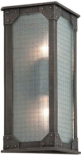 - Troy Lighting B3873, Hoboken Outdoor Wall Sconce Lighting, 36 Total Watts, Aged Pewter
