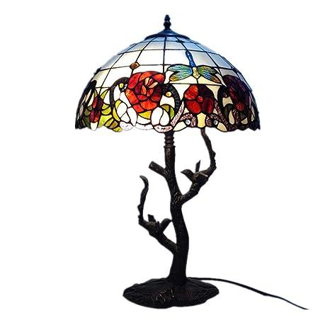 Amazon.com: CCSUN Lámpara de mesa, estilo Tiffany, lámpara ...