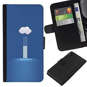 All Phone Most Case / Oferta Especial Cáscara Funda de cuero Monedero Cubierta de proteccion Caso / Wallet Case for Sony Xperia Z2 D6502 // weather cloud today