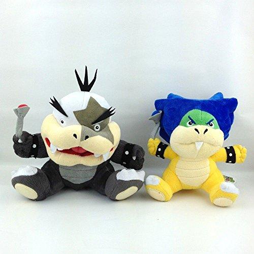 2X Super Mario Bros Koopalings Ludwig von & Morton Koopa Jr. Plush Soft Toy 7