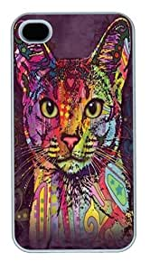 Abyssinian Cat Custom iPhone 4s/4 Case Cover Polycarbonate White