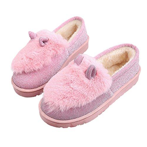 Deesee (tm) Dames Dames Laarzen Plat Winter Warme Schoenen Korte Sneeuw Laarzen Roze