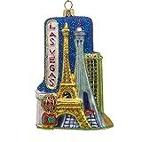 "CDL 5 inches Las Vegas Ornament Souvenirs Christmas Ornaments Travel Memorabilia Glass Blown Glass Ornaments (5"", Las Vegas G68)"